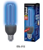 Uniel ESL-312-25 Лампа ультрафиолетовая (Blacklight) цоколь E27
